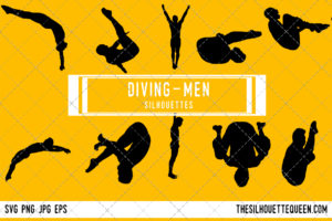 Man Diving silhouette