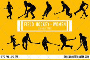 Woman Field hockey Player silhouette