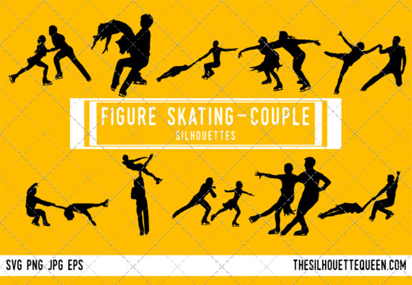Couple Figure skating silhouette