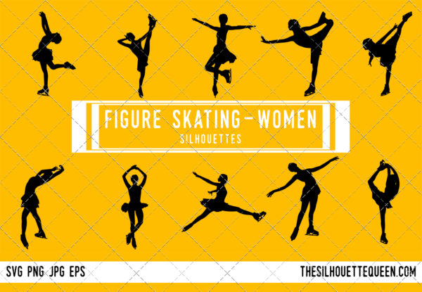 Woman Figure skating silhouette