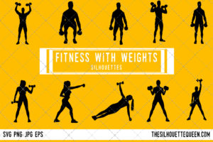 Fitness with Weights silhouette
