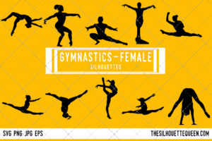 Woman Gymnast silhouette