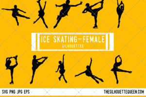 Woman Ice Skating silhouette