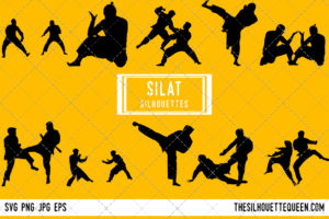 Silat silhouette