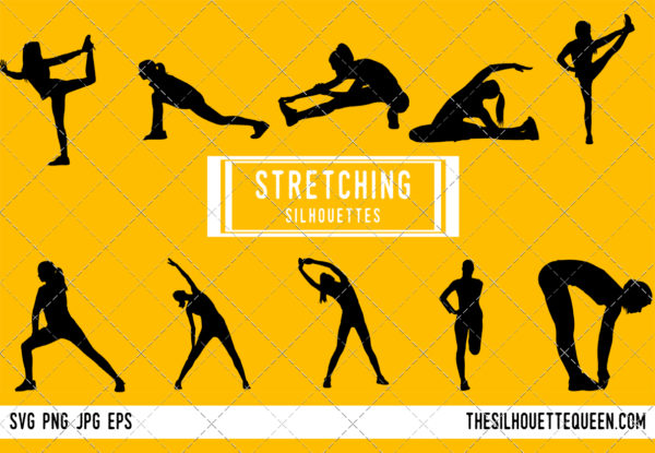 Stretching silhouette