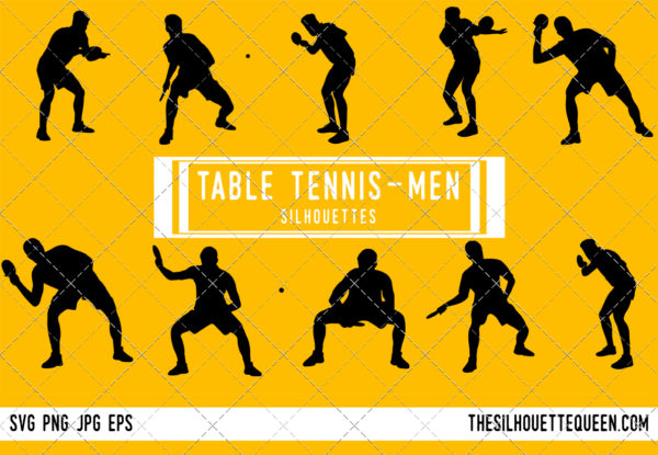 Man Table tennis silhouette