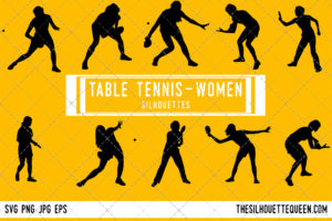 Woman Table tennis silhouette