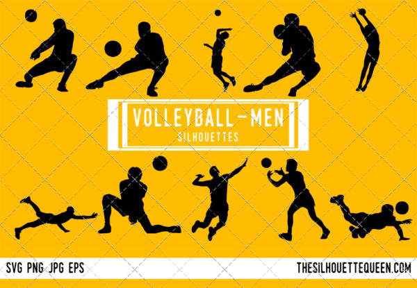 Man Volleyball silhouette