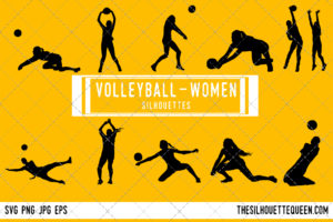 Woman Volleyball silhouette