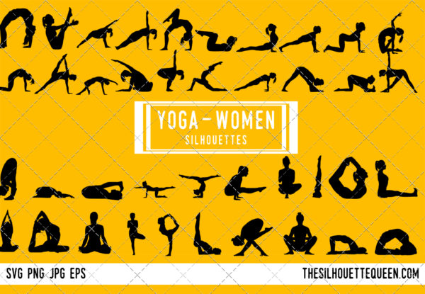 Woman Yoga silhouette