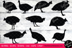 Guinea Fowl SVG Files Bundle