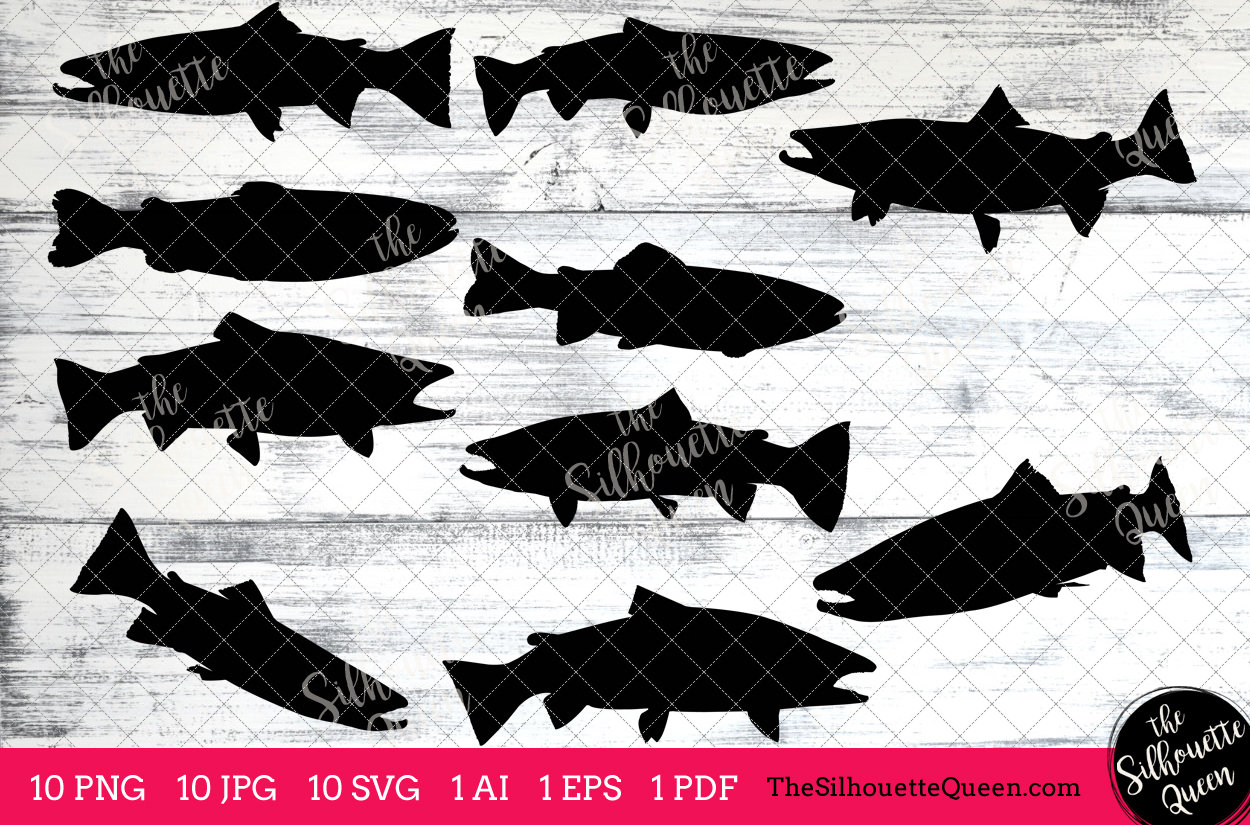 Download Fishing Svg Steelhead Trout Fish Svg Trout Fish Cut File For Cricut Design Silhouette Studio Fisherman Clipart Father S Day Svg Vector The Silhouette Queen