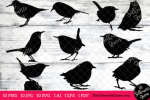 Wren Bird SVG Files Bundle