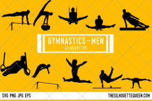 Mens Gynmastics SVG Bundle