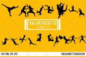 Kalaripayattu Warrior SVG Bundle