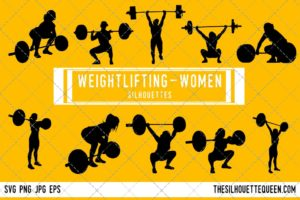 Woman Weightlifting SVG Bundle