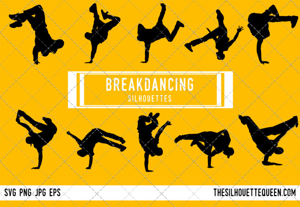 Male Break Dancing SVG Bundle