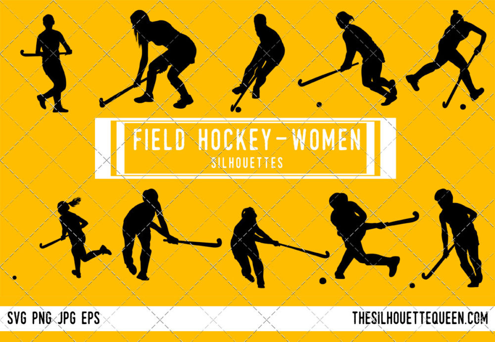 Woman Field Hockey SVG Bundle
