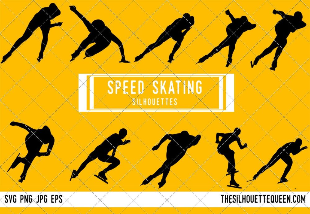 Speed Skating SVG Bundle