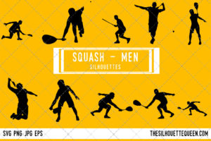 Men Squash SVG Bundle