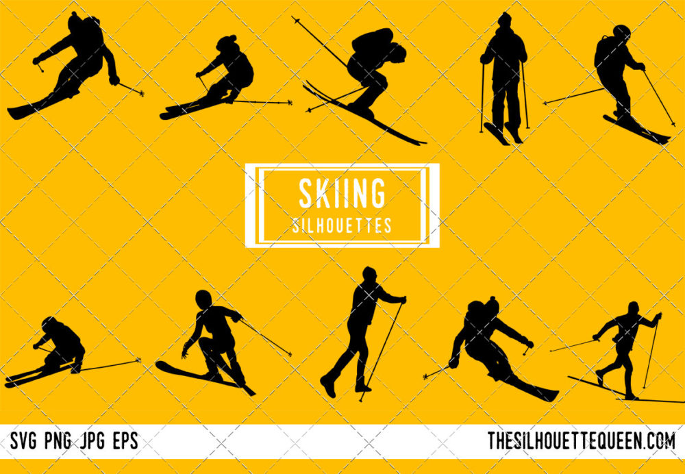 Skiing SVG Bundle