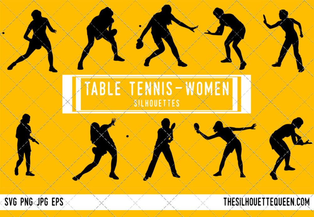 Woman Table tennis SVG Bundle