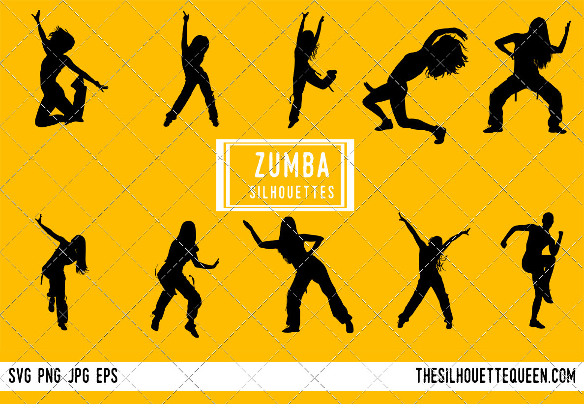 Zumba Dancer Bundle Couple Dance Svg Teacher Cut Files For Silhouette Studio Cricut Design Space Svg Png Vector Design The Silhouette Queen