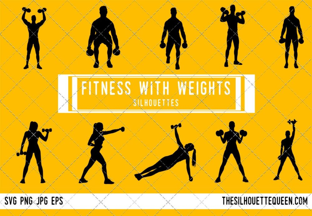 Fitness with Weights SVG Bundle