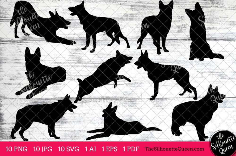 German Shepherd dog svg