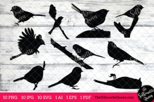 Chickadee Bird SVG File Bundle