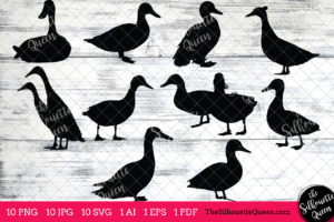 Duck Bird SVG Files Bundle