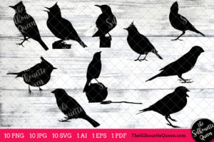 Lark Bird SVG Files Bundle
