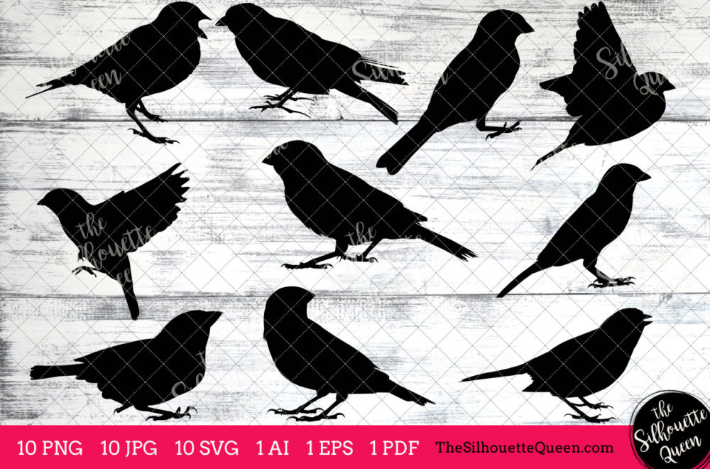 Sparrow Bird SVG Files Bundle