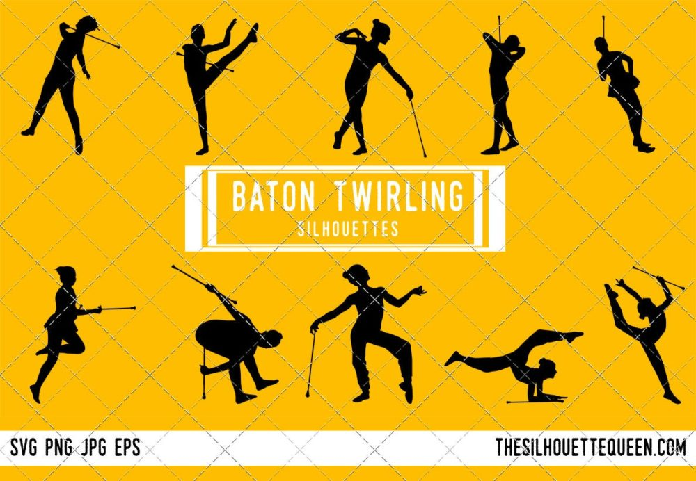 Baton Twirling SVG Bundle