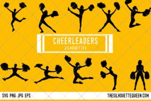 Girls Cheerleading SVG Bundle