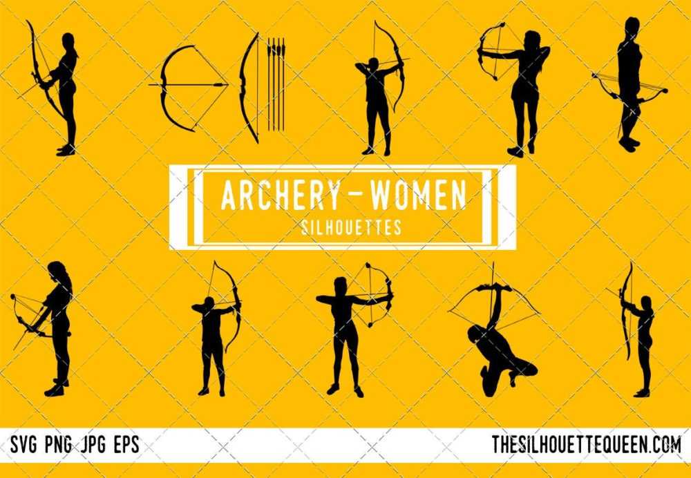 Woman Archery SVG Bundle