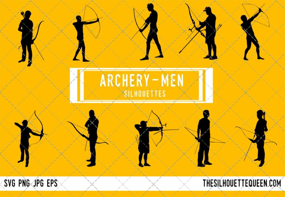 Man Archery SVG Bundle