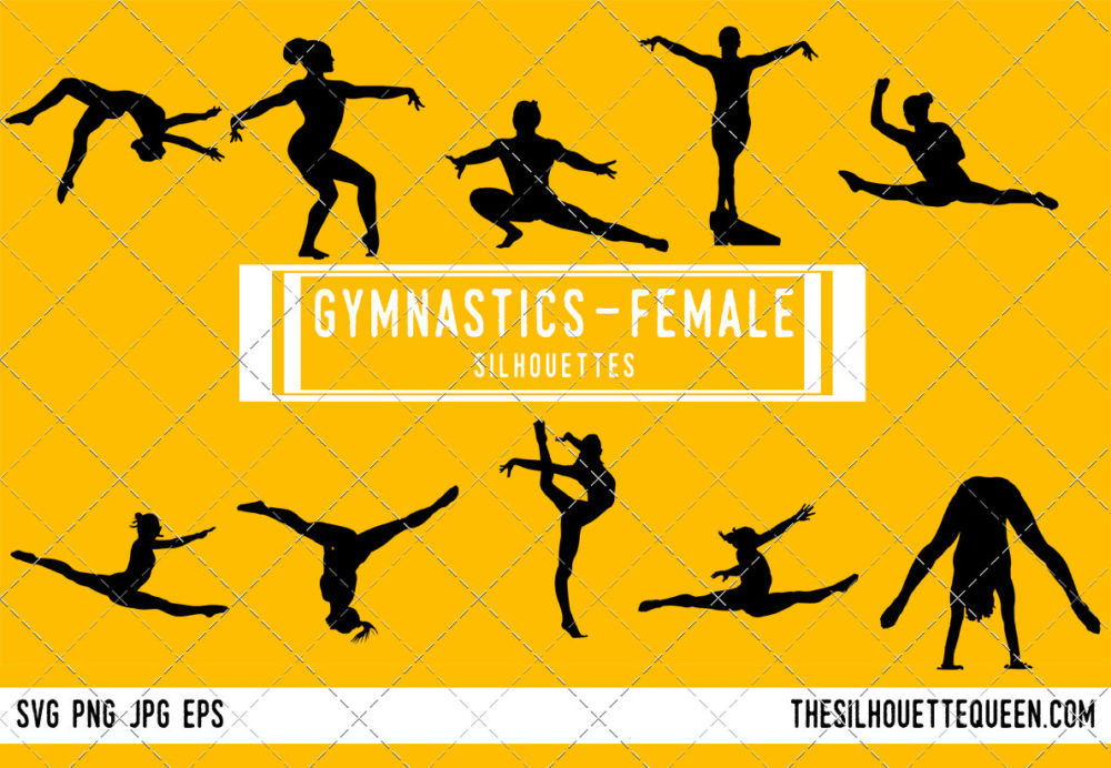 Womens Gymnastics SVG Bundle