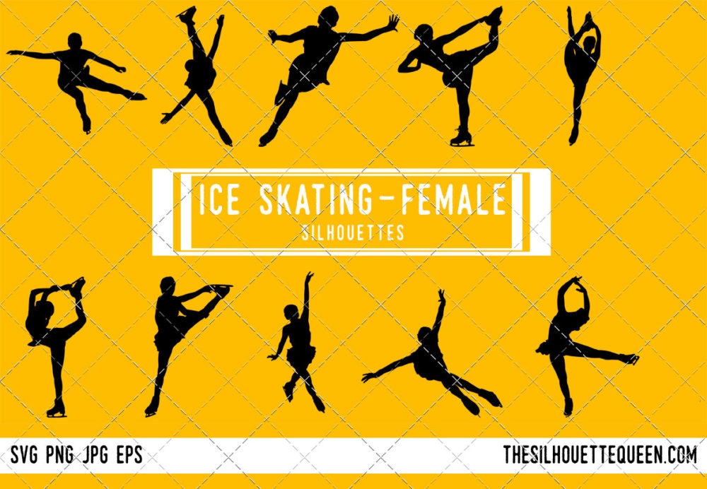 Woman Ice Skating SVG Bundle