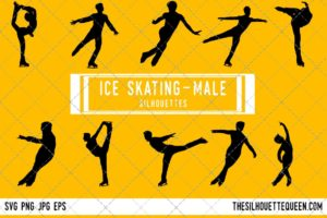 Men Ice Skating SVG Bundle