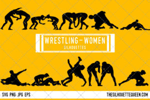 Woman Wrestling SVG Bundle