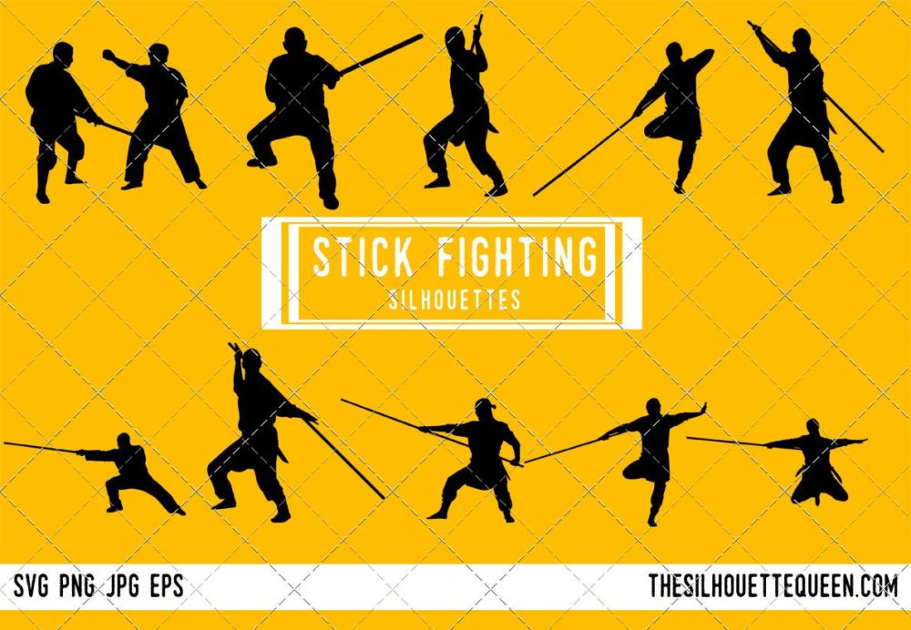 Stick fighting SVG Bundle