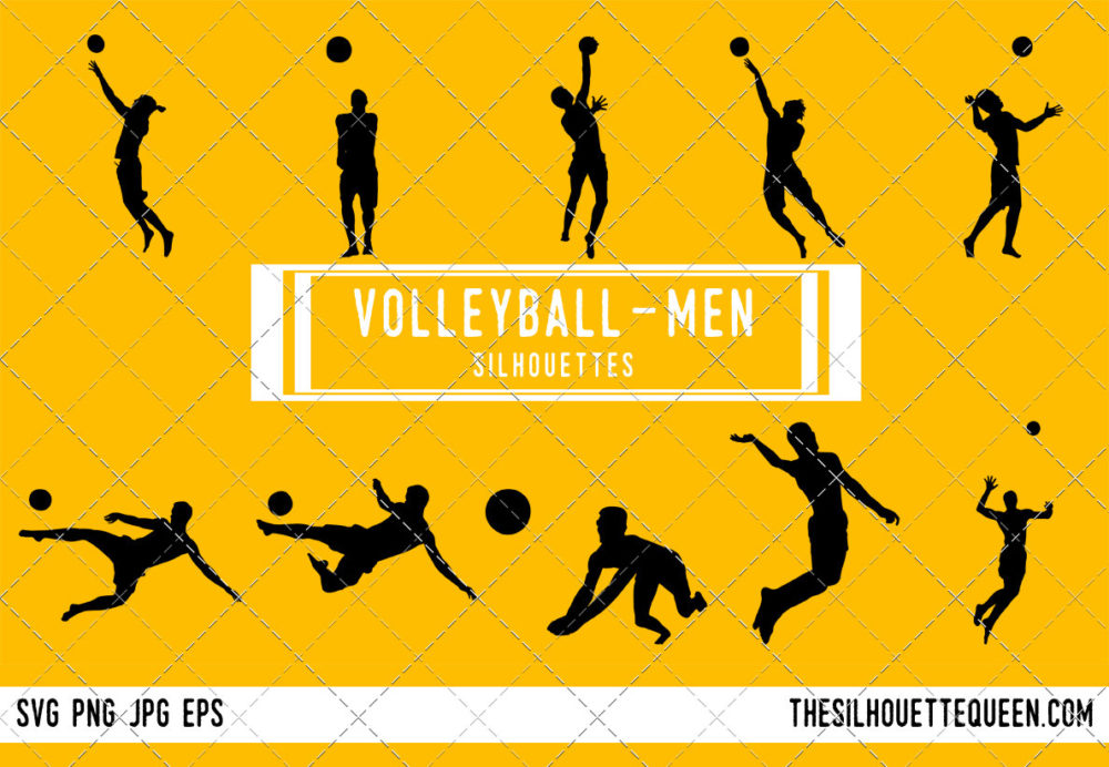 Man Beach Volleyball SVG Bundle