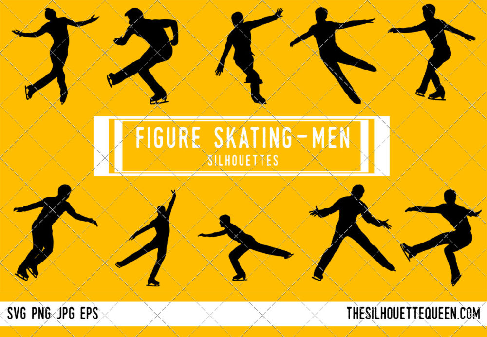 Man Figure Skating SVG Bundle