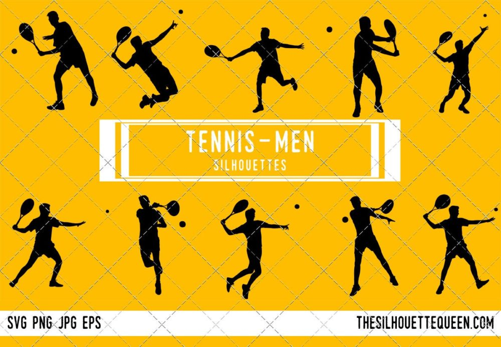 Man Tennis SVG Bundle