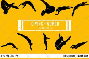 Woman Diving SVG Bundle