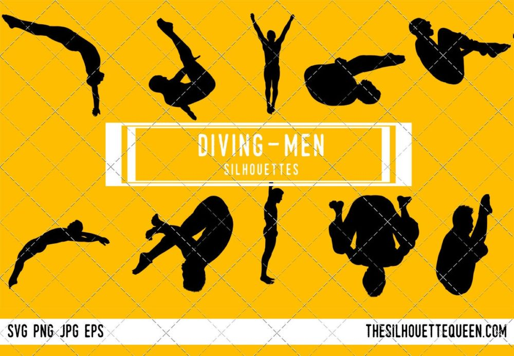 Men Diving SVG Bundle