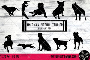 American Pit Bull Terrier dog svg
