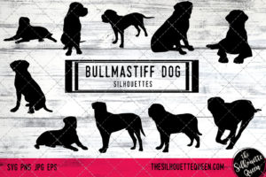 Bullmastiff dog svg