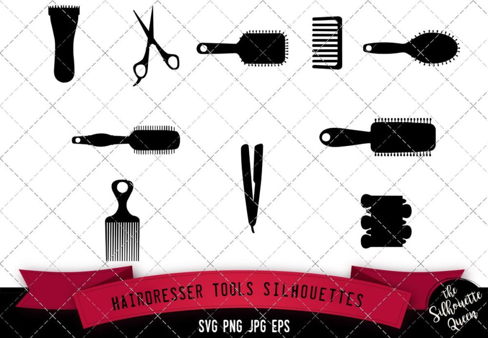 Hairdresser Tools Silhouette